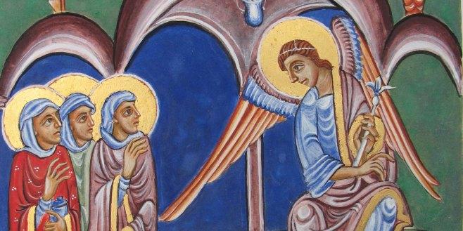 egg tempera icon based on St Albans psalter
