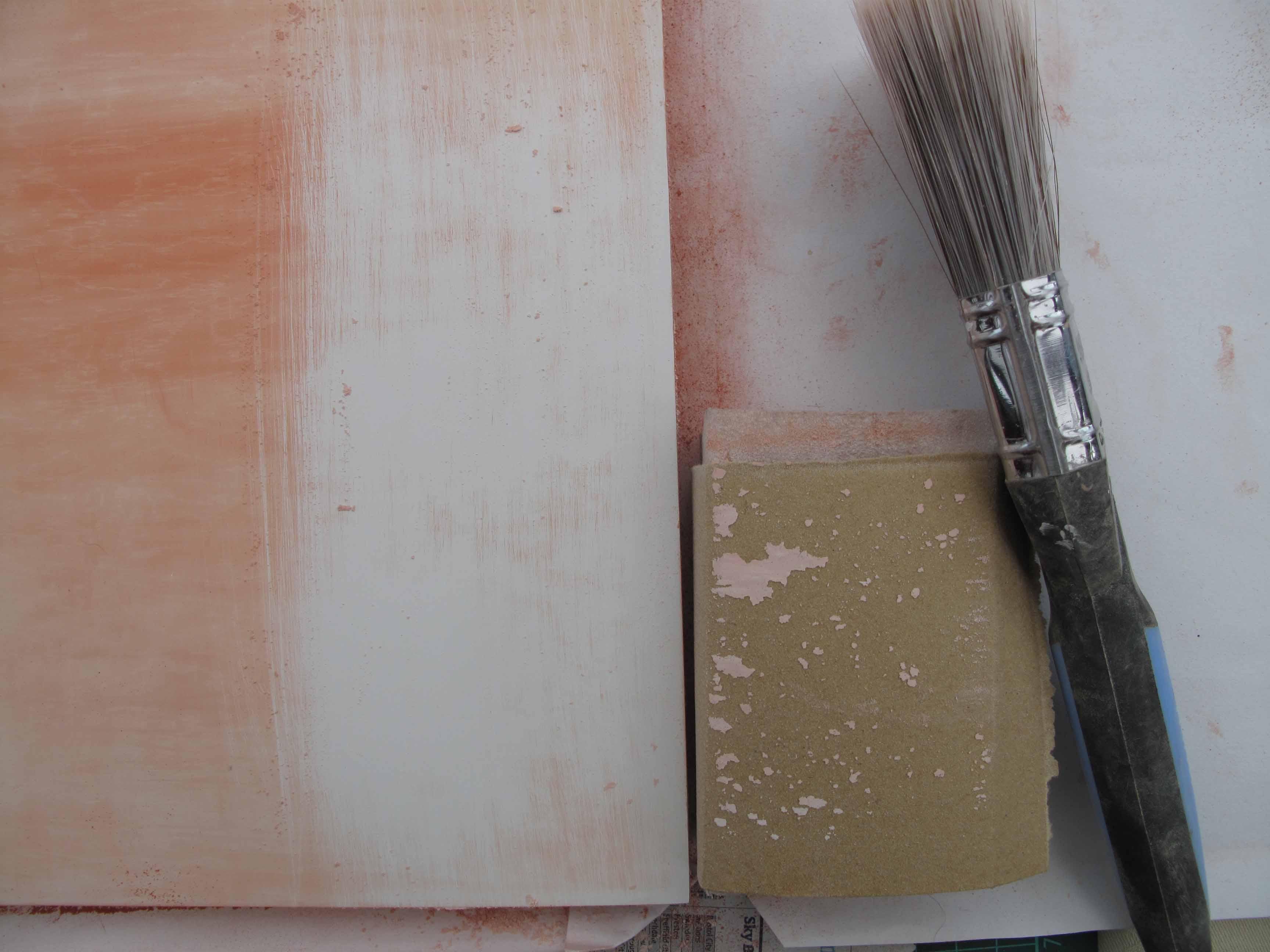 brusgh off clogged sandpaper