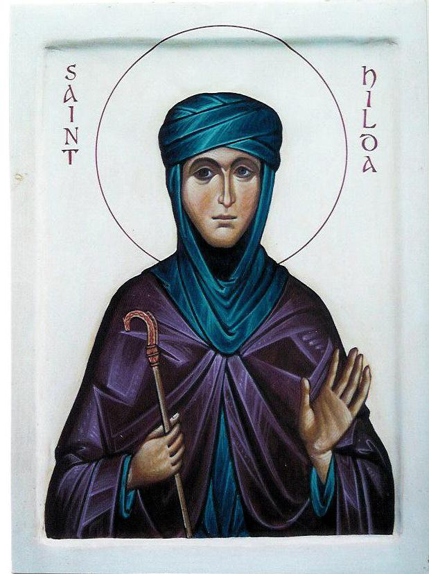 Icon by Aidan Hart of St Hilda of Whitby