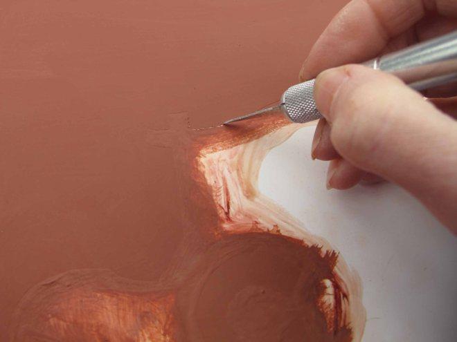 Removing masking fluid