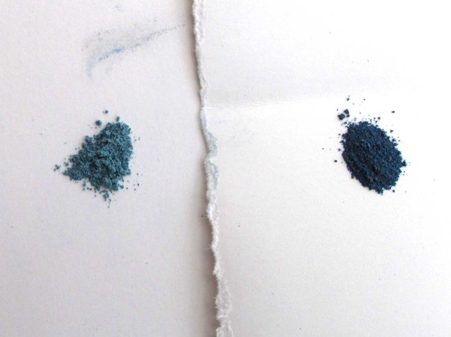 pigment in dry form