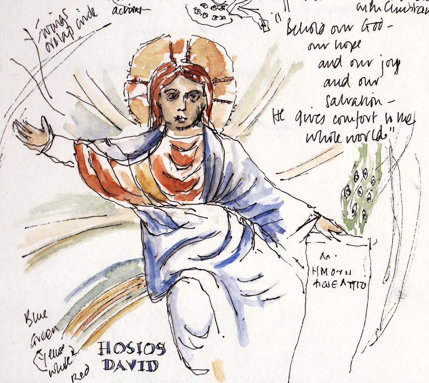 Hosios David Thessaloniki sketch