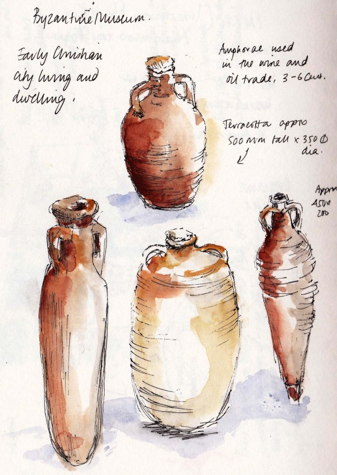 Terracotta jars in Thessaloniki