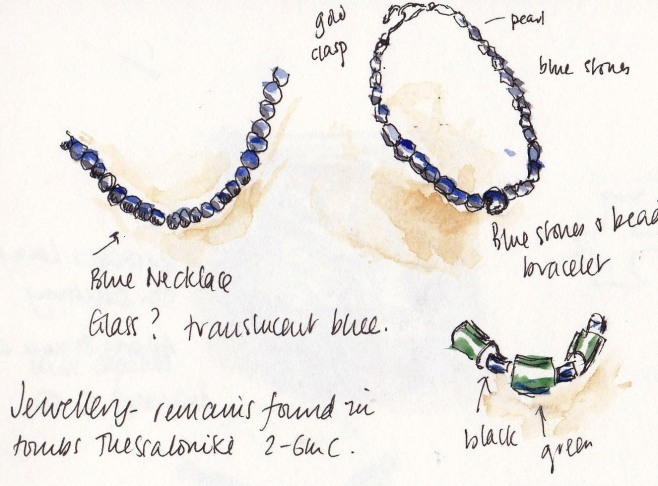 sketch of greek necklaces