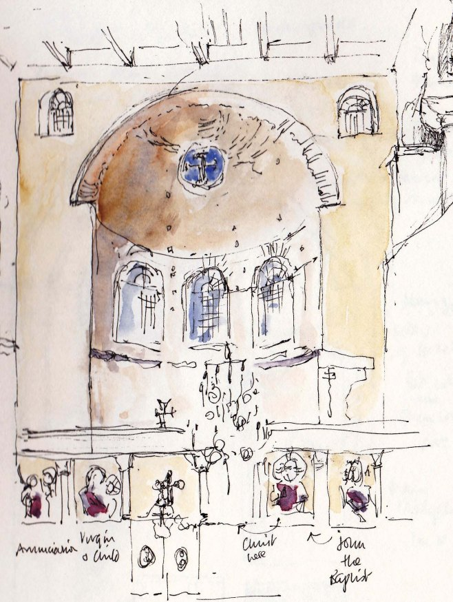 pen and ink sketch of Thessaloniki
