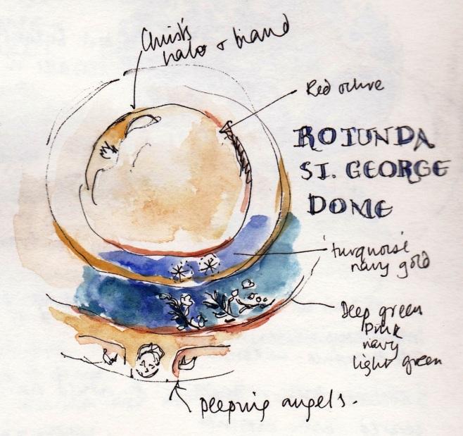 sketch of rotunda st George, Thessaloniki