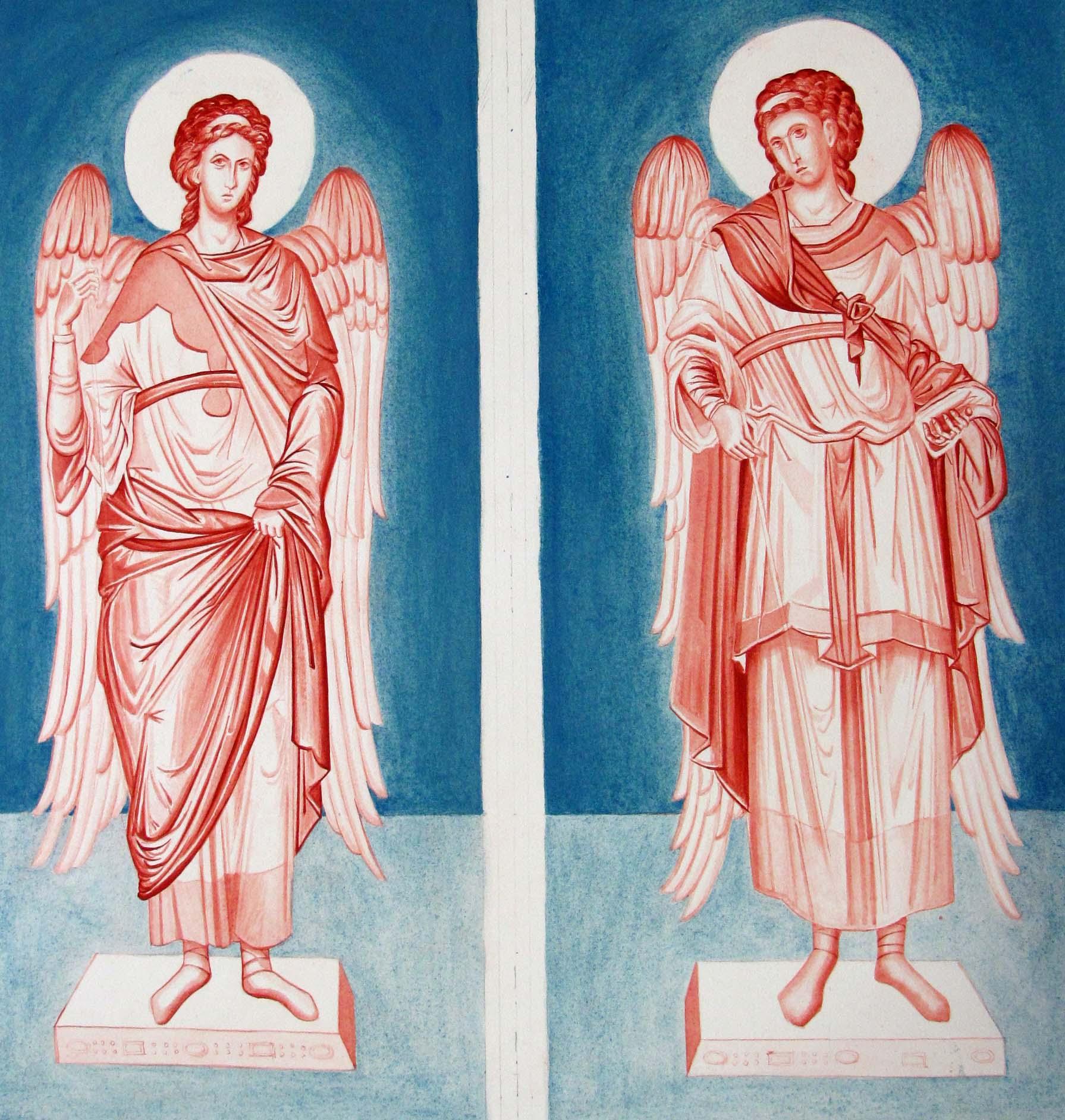 archangels Raphael and Michael