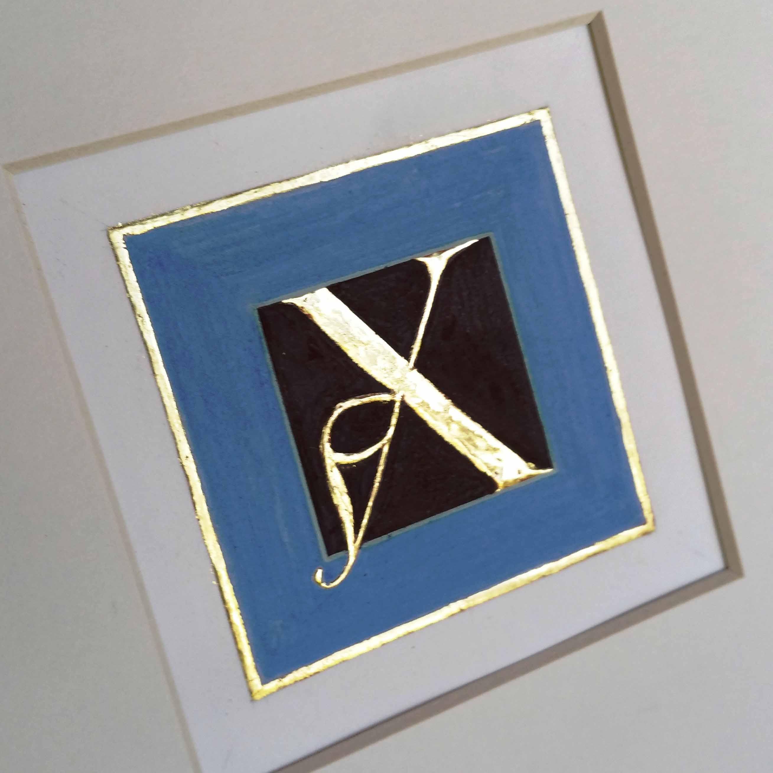 Gilded letter X
