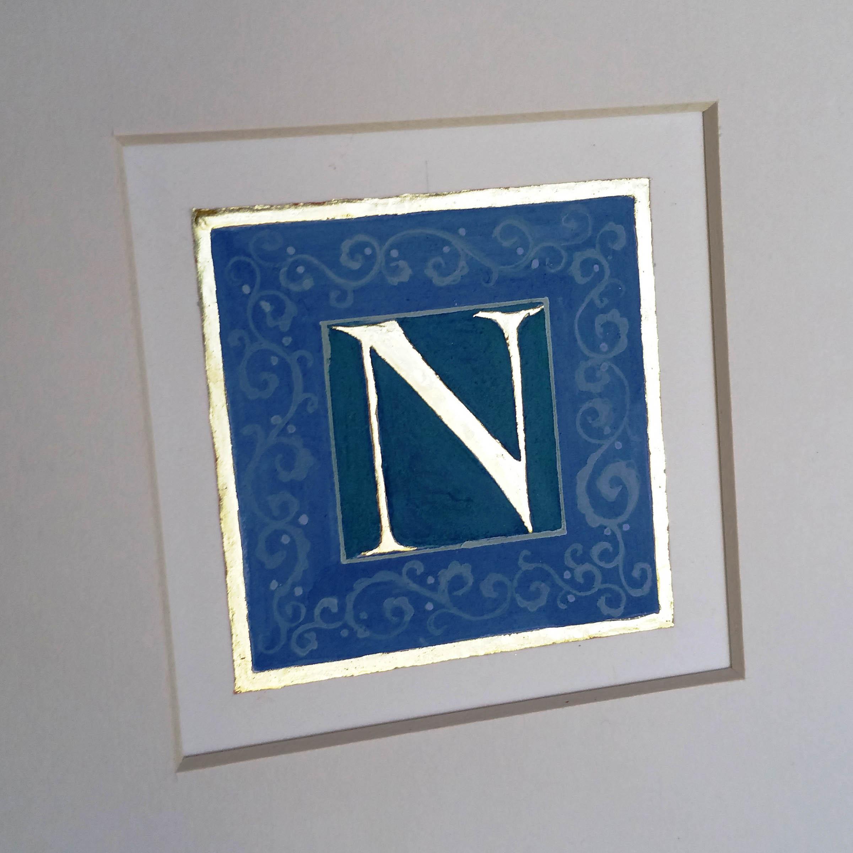 letter N Bury Bible