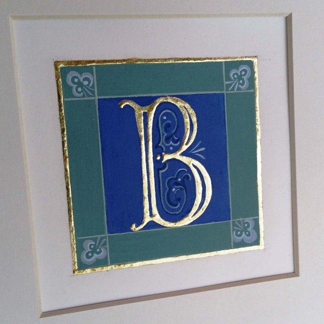 gilded letter B