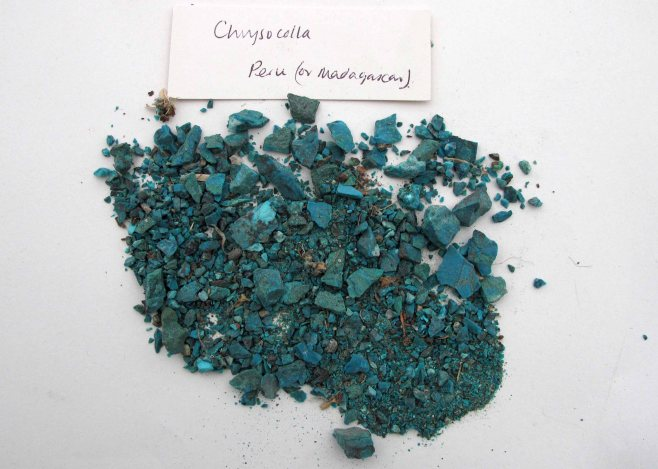 1 Chrysocolla rough stones