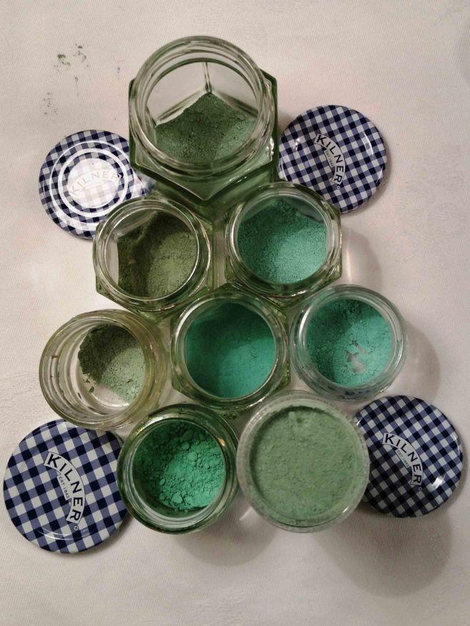 jars of pigment