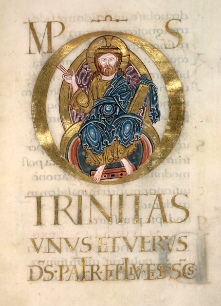 f70 r Christ in Majesty TRINITAS British Library