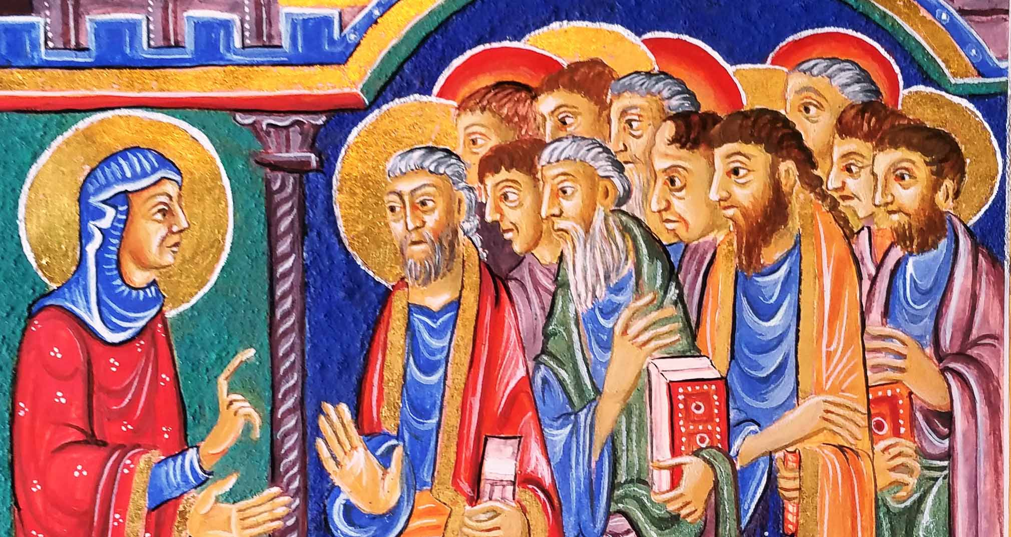 mary Magdalene tells the disciples Christ has risen