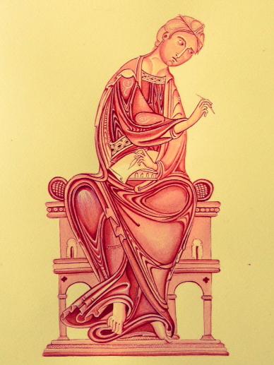 Monochrome study of St John The Evangelist