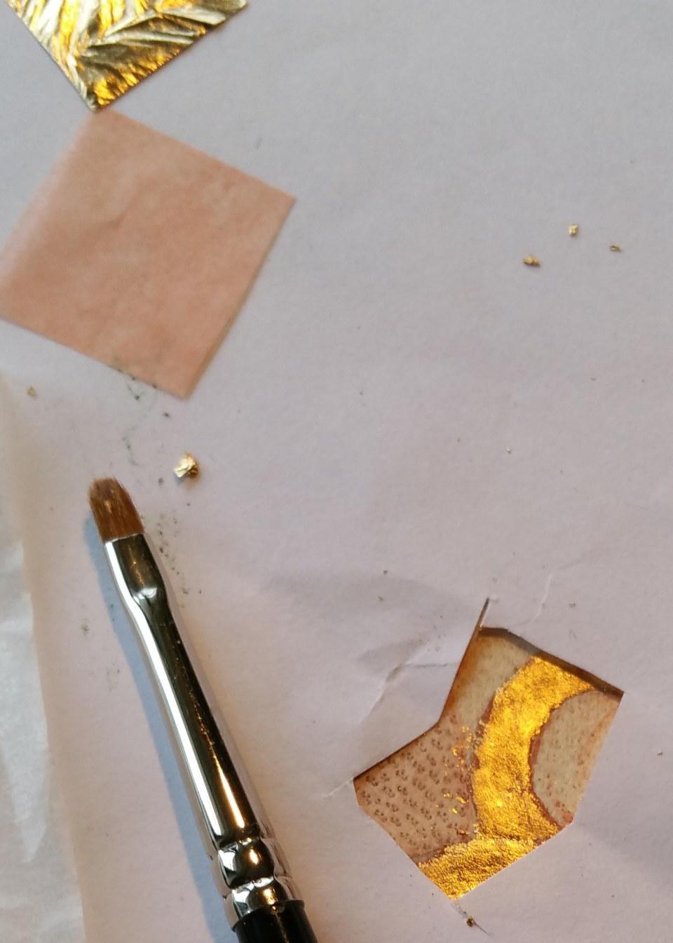 gold leaf on vellum