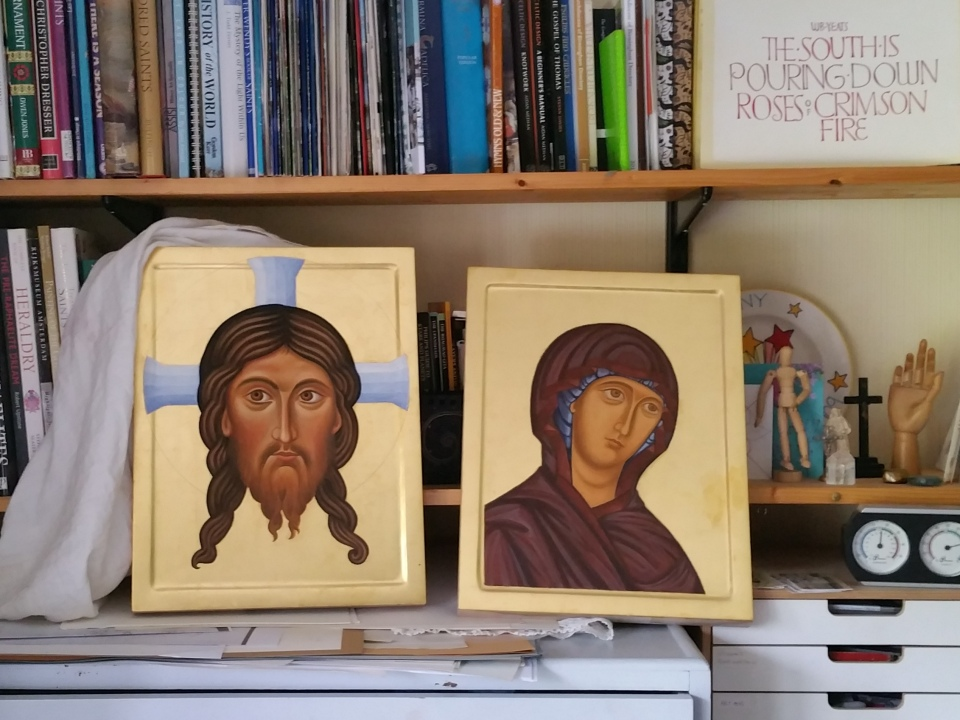 Virgin and Christ icons cruwys