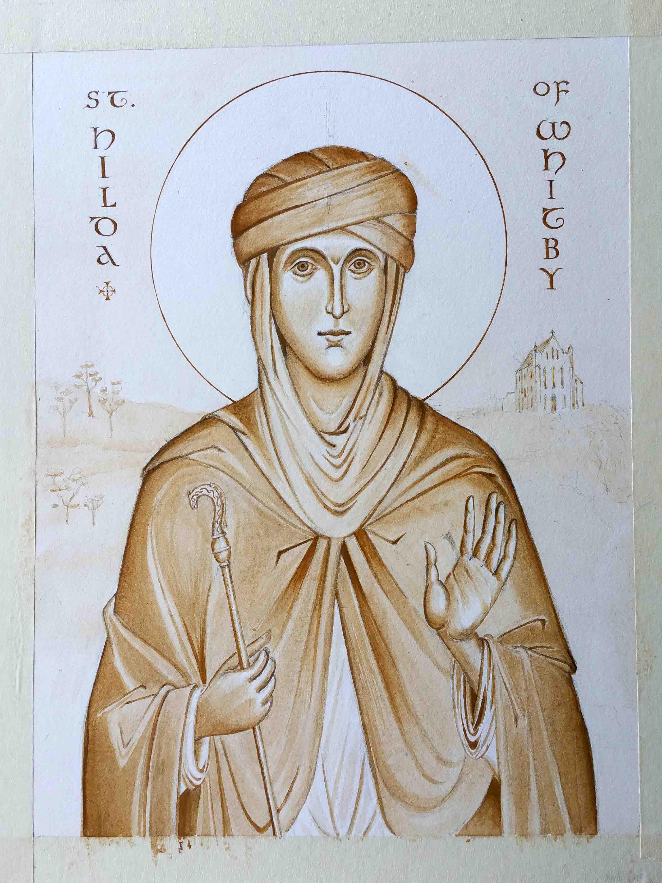 St Hilda work in prog Cruwys