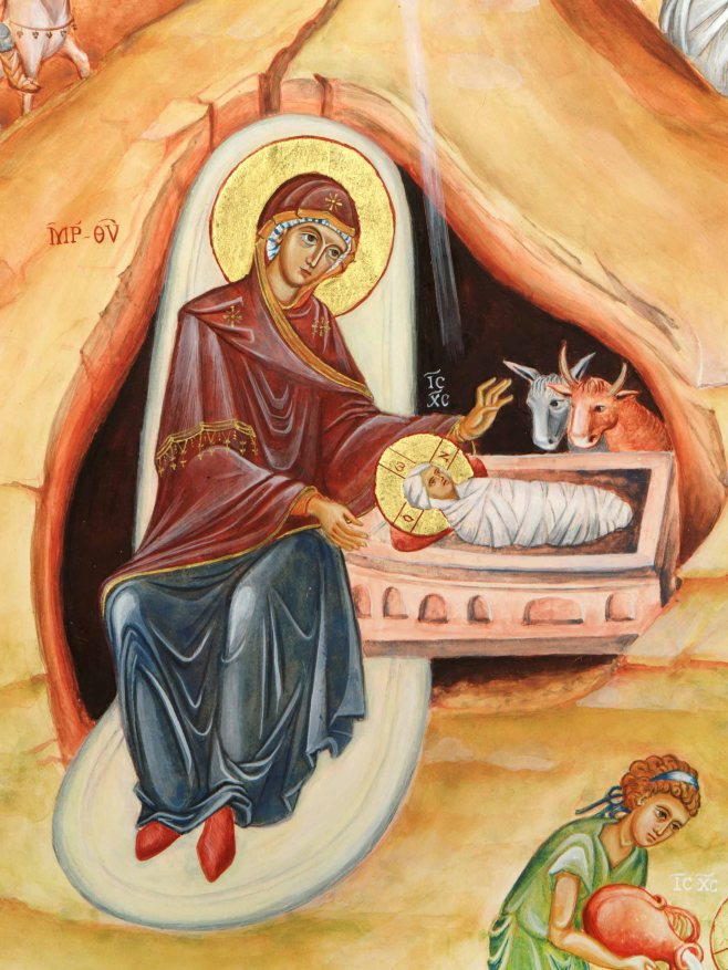 icon of Blessed Virgin Mary and infant Jesus