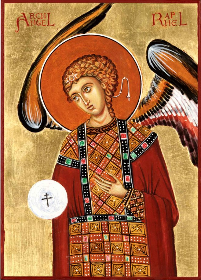 archangel raphael based on Cyprus wallpainting
