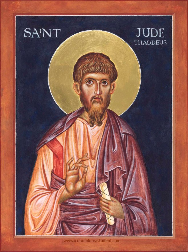 Icon painting of Saint Jude