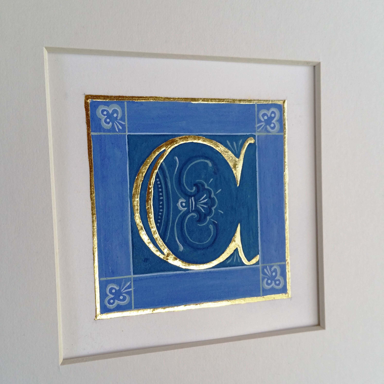 letter C Melisende gilded lapis lazuli