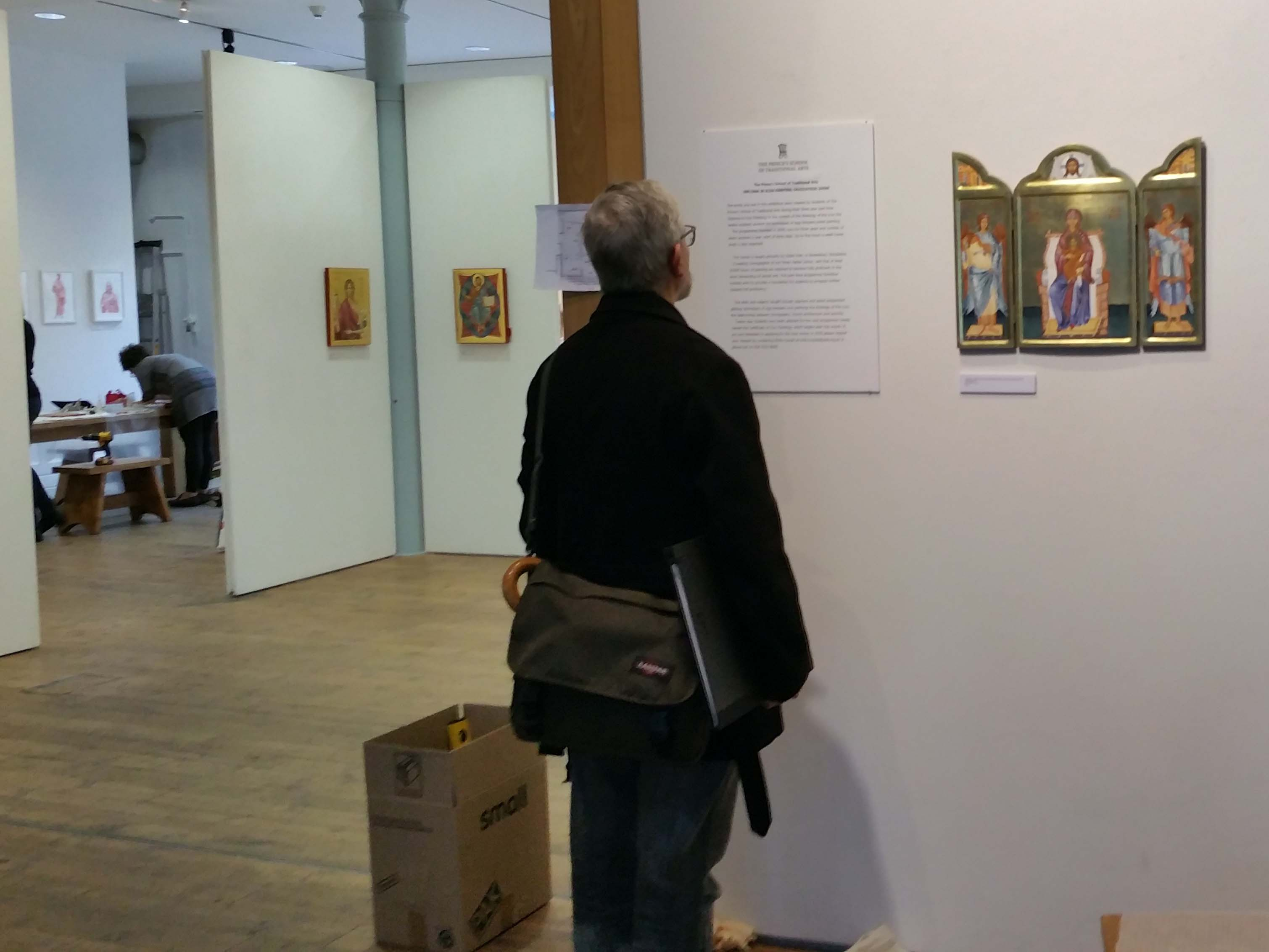 visitor to triptych