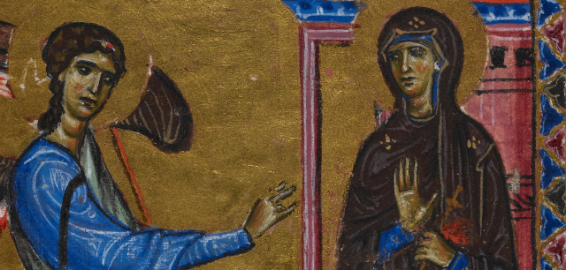 Annunciation Melisende Psalter British Library crop.png