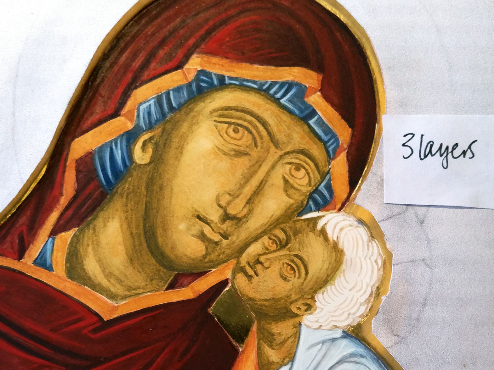 icon painting with membrane technique