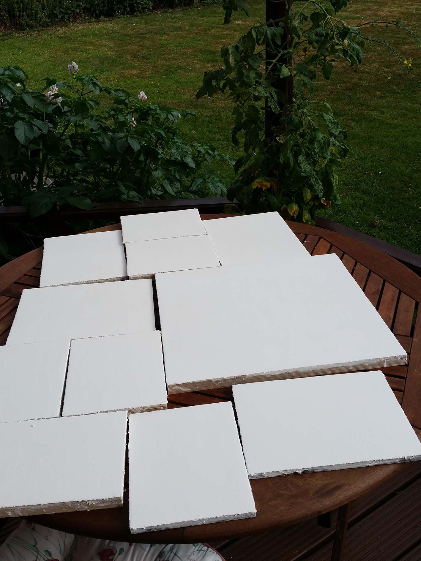 Gesso on iconboards
