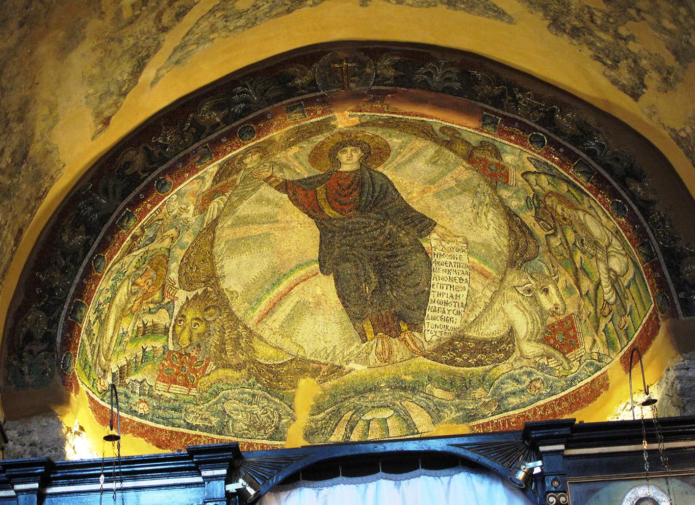 Mosaic of Christ in Majesty at Hosios David, Thessaloniki