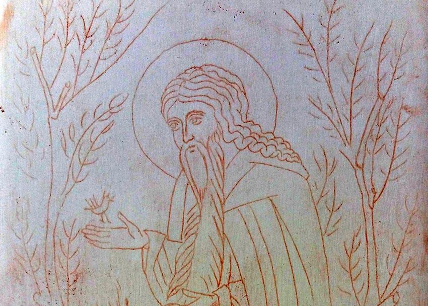 St David the dendrite of thessaloniki icon
