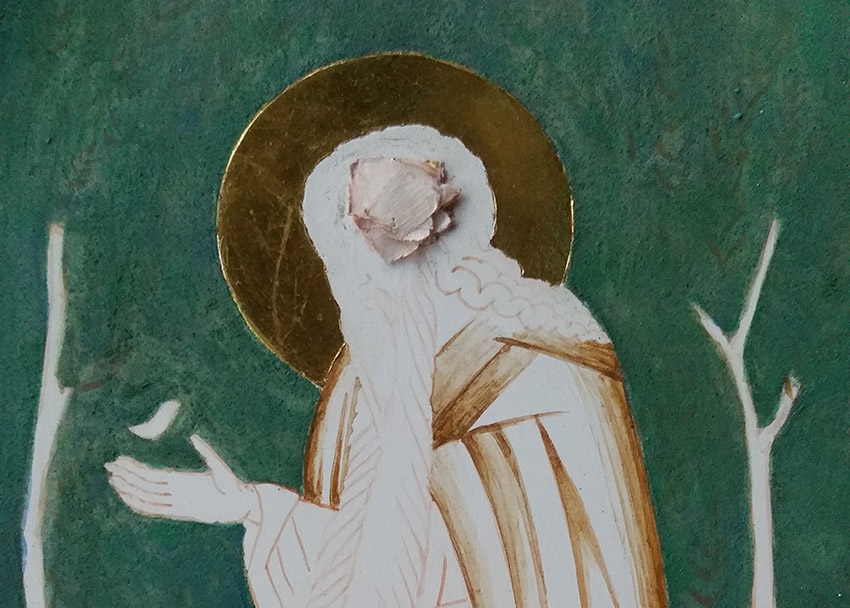 green background on icon of st david