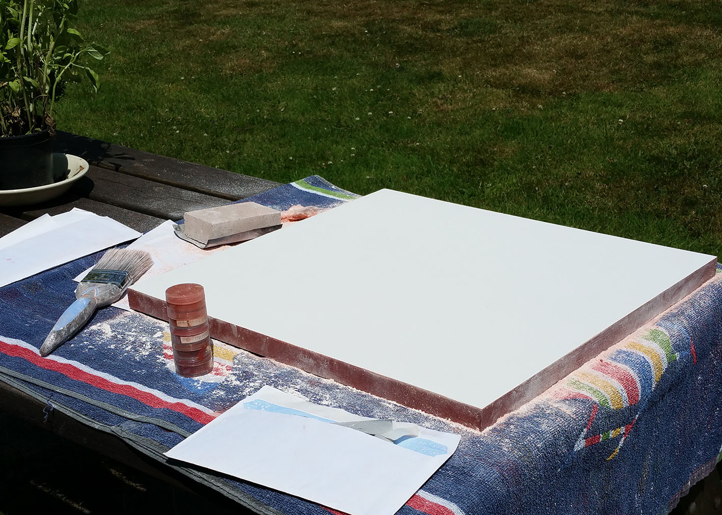 3 sanding the large icon board.jpg