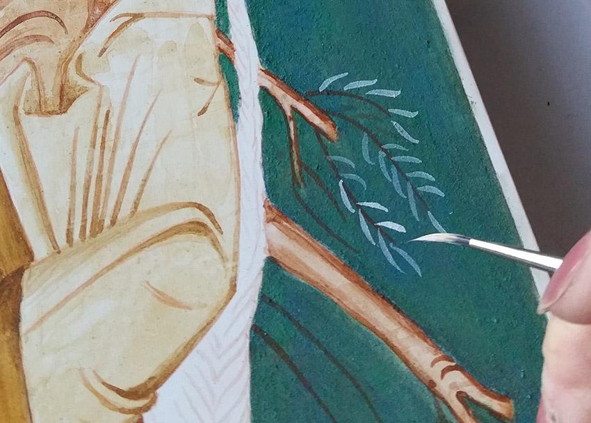 jaipur paint brush in use