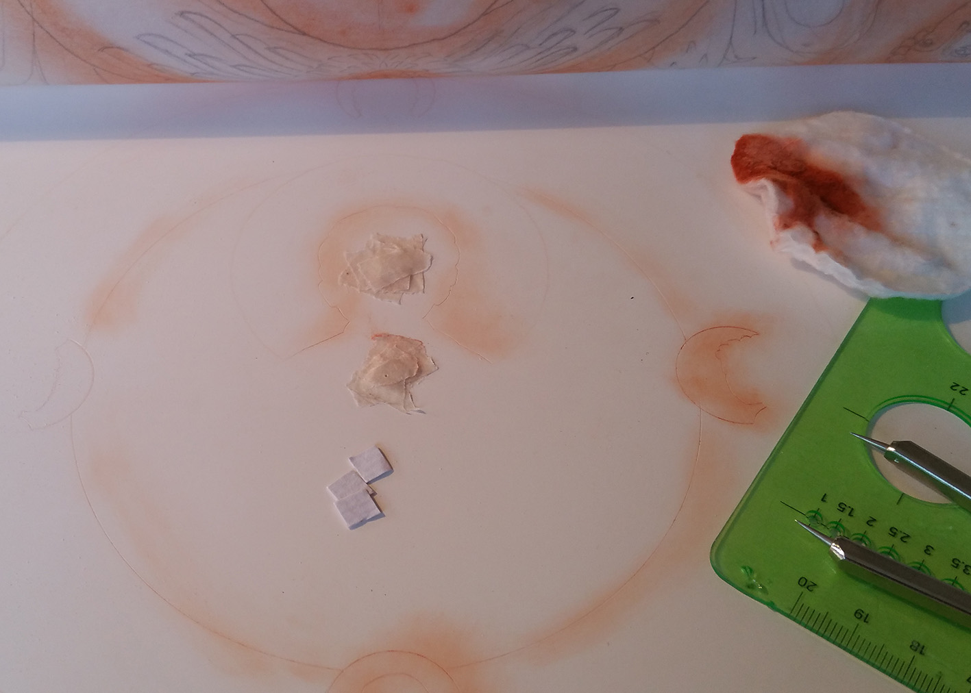 compass points on gesso