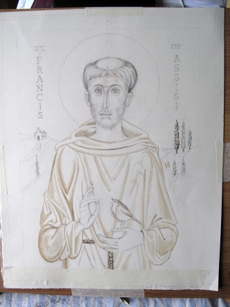 Drawing of St Francis