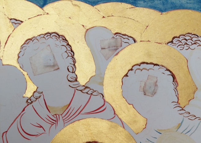 oil gilding on icon