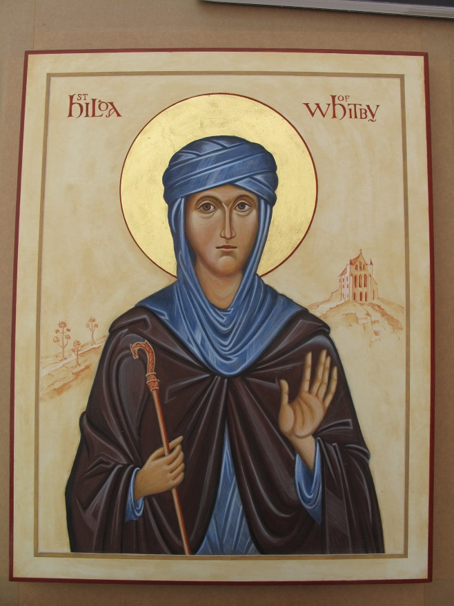 Icon of St Hilda complete